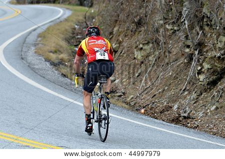 Man in a Bicycle Race
