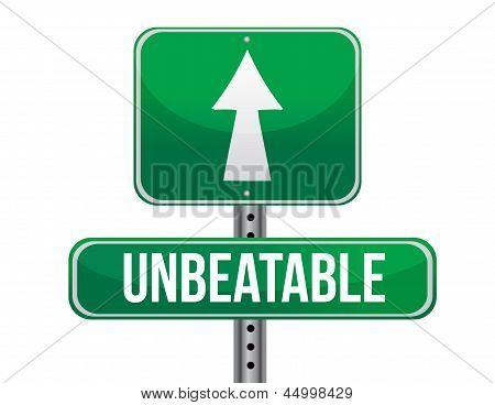 Unbeatable Road Sign Illustration Design