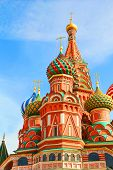 St Basils cathedral and Monument to Minin and Pozharsky on Red Square in Moscow Russia poster