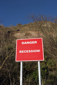 Cliff Gefahr Zeichen