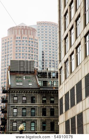 Old And Modern Boston Buildings