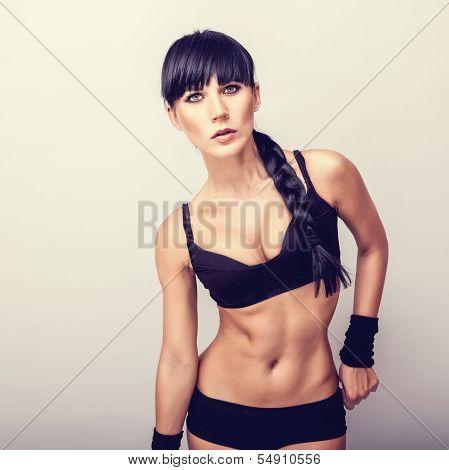 Beautiful healthy fitness woman