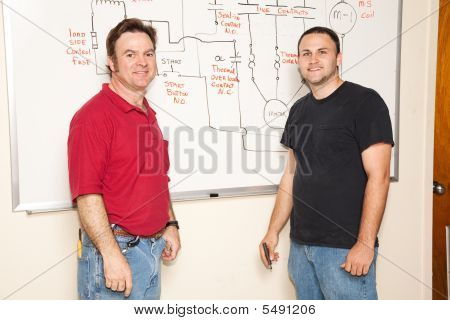 Engineering Student And Teacher