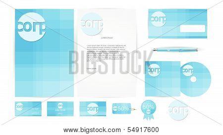 Corporate Identity Templates in Vector illustration