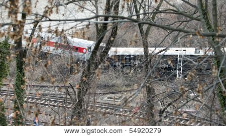 Metro North Train Derailment In The Bronx