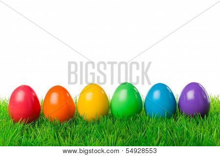 Easter Eggs In A Row
