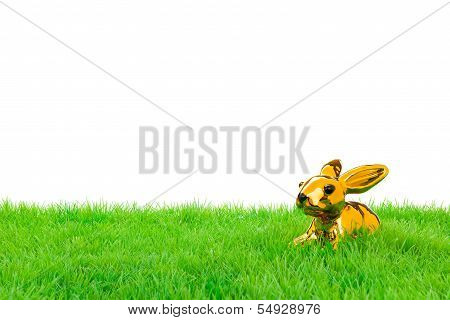Golden Easter Bunny
