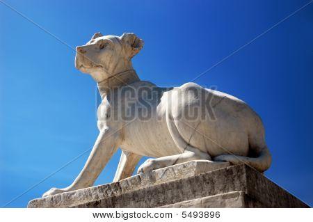 Antique Statue Of Dog