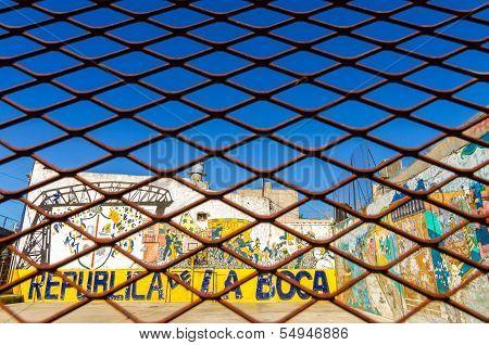 Fence And Graffiti