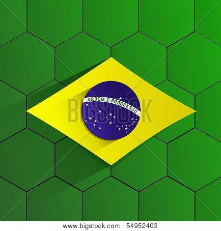 Brazil Football Team Flag
