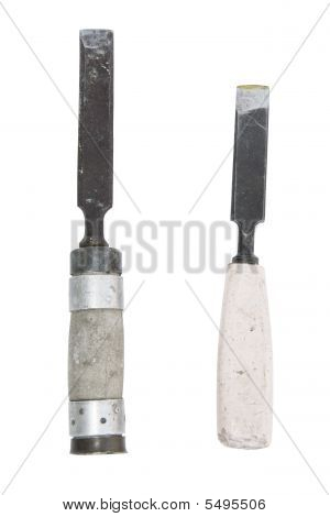 Two Old And Rusty Chisel