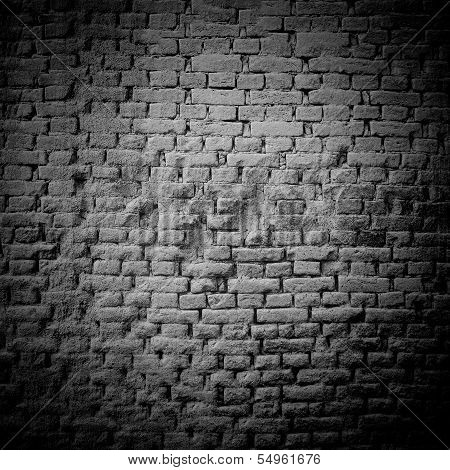 Raw Brick Wall B&w