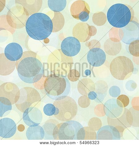 Light Colored Blue -  Beige  Abstract Circles Background poster