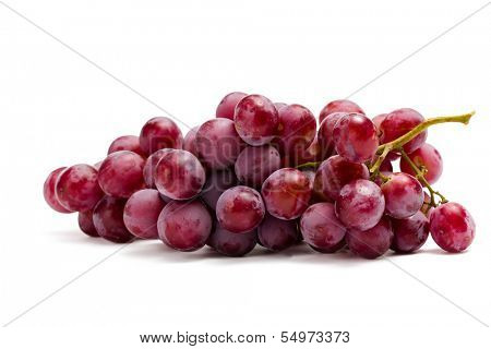 Close up of bunch of grape, isolated on white. Concept of healthy eating and dieting lifestyle