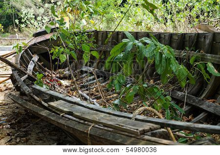 Old rotten fishing boat
