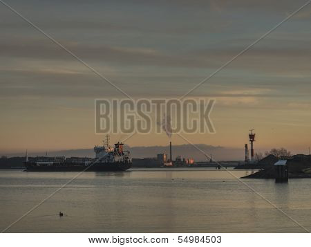 Locks At Exit Of Kiel Canal, Germany