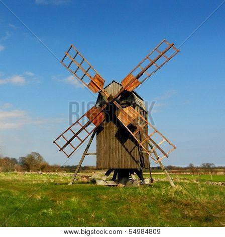 Old windmill from Lerkaka / Sweden