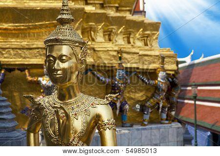 Demon Guardian At Wat Phra Kaew, Temple Of The Emerald Buddha.