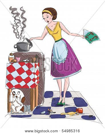 Housewife vector illustration