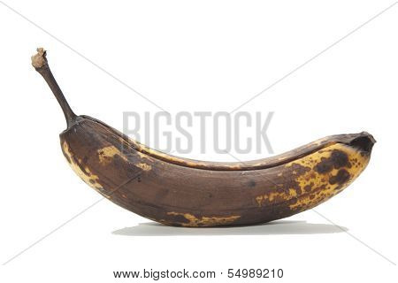 an old brown unhealthy rotten bananas fruit poster