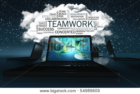 Word Cloud With Teamwork
