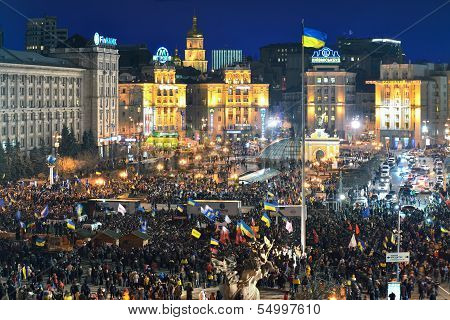 Strike On The Independence Square At Nigh