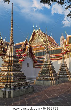 Buddhist Temple, Wat Pho In Thailand