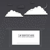 Protection of trouble, rainy day, vector background poster