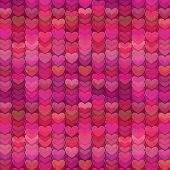 Abstract Hearts Background in Rich Shades of Pink poster
