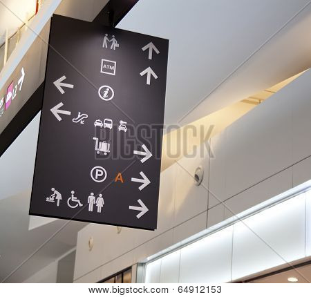 Airport signboard