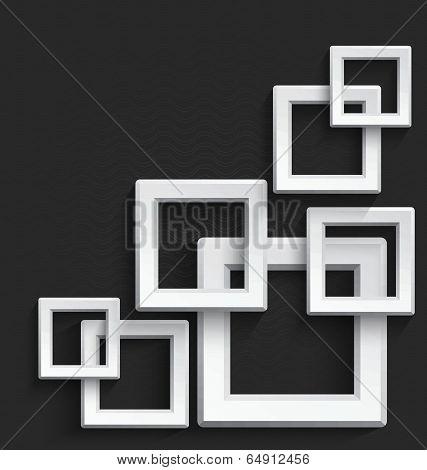 White Square Frames