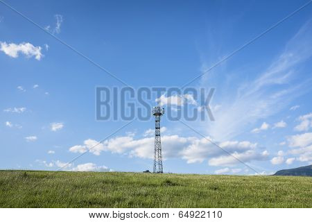Gsm Tower In Fields