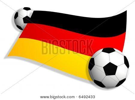 Soccer Balls & Flag Of Germany