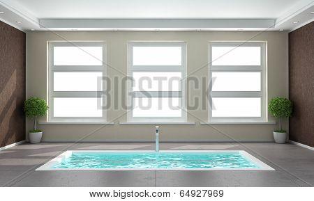 Contemporary Bathroom With Sunken Bath