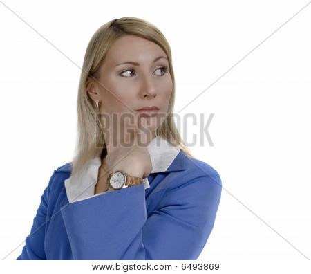 Portrait Of A Doubting Attractive Business Woman