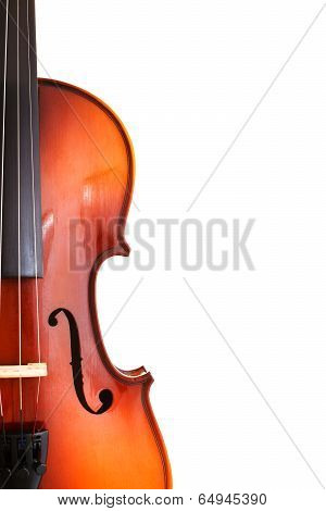 Copyspace And Half Of Classical Wooden Fiddle
