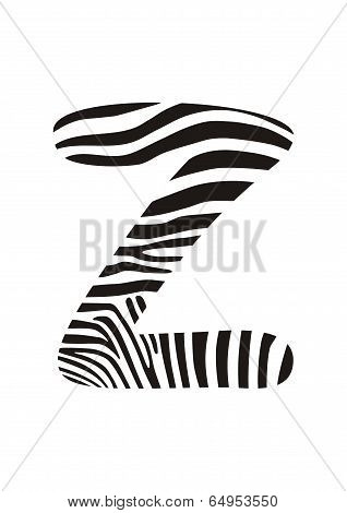 Font Zebra, Letter Z