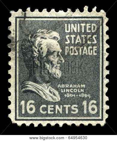 Us Postage Stamp Depicting Abraham Lincoln