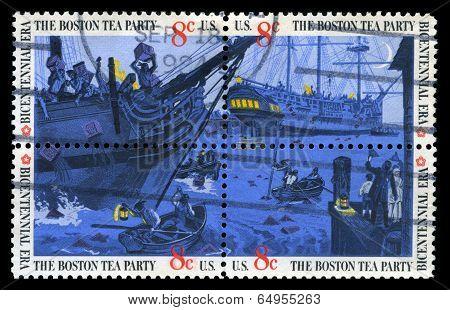 Boston Tea Party Us Postage Stamps
