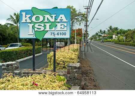 Kona Sign On Big Island Hawaii