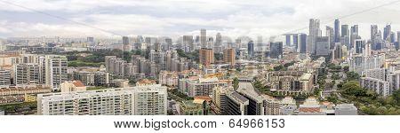 Condominiums Along Singapore River Cityscape