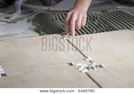 Laying new tiles