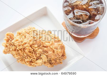 Easy Meal Set Of Chicken Fried And Cola