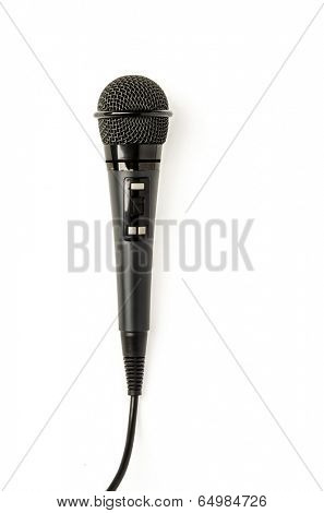 Performance Microphone isolated on white