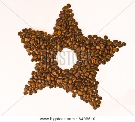 Coffee beans star