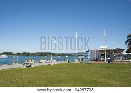 Tauranga waterfront.