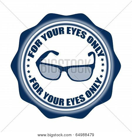 For Your Eyes Only Stamp