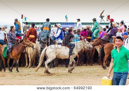 Horseback Spectators at Nadaam Horse Race
