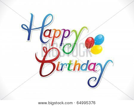 abstract colorful happy birthday background vector illustration poster
