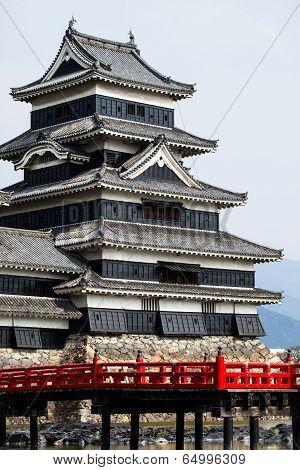 Beautiful Medieval Castle Matsumoto In The Eastern Honshu, Japan